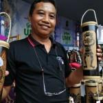 Celengan Bambu Ini Terinspirasi dari Tiang Rumah Jawa