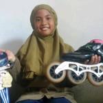 KISAH INSPIRATIF : Melihat Keseharian Noura, Atlet Sepatu Roda Asal Jogja Peraih 17 Medali