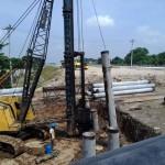 TOL SOLO-KERTOSONO : Tiang Pancang Overpass Barat Bandara Dibenamkan 2 Meter di Bawah Tanah
