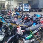 Sebulan Lebih, Puluhan Sepeda Motor Peserta Konvoi Anarkistis Masih Ditahan di Mapolres Klaten