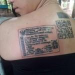 Tato KTP di punggung. (Istimewa/Facebook)