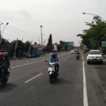MUDIK 2017 : H-1 Lebaran, Arus Lalu Lintas di Exit Tol Paldaplang Sragen Lengang