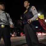 LEBARAN 2017 : Polisi Bersenjata Siaga Antisipasi Takbir Keliling di  Jalan Protokol Solo