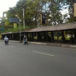 INFRASTRUKTUR SOLO : Terdampak Flyover Manahan, Pedagang Kuliner Kota Barat Dibuatkan Selter