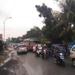 MUDIK LEBARAN 2017 : Lalu Lintas di Jalan Solo-Purwodadi Perempatan Gemolong Sragen Padat Merayap