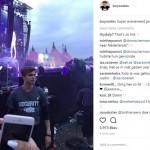 Boy Roeles saat mengamankan konser Justin Bieber di Belanda (Instagram @boyroeles)
