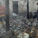KEBAKARAN SLEMAN : Gudang Produksi Slondok Ludes Terbakar