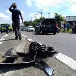 KECELAKAAN BOYOLALI : Bus Rombongan Pemudik Wonogiri Hantam 4 Mobil di Jalan Solo-Semarang