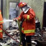 KEBAKARAN SLEMAN : Rumah di Perum Kanisius Ludes Terbakar