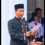 Pakai Busana Adat Betawi, Begini Gaya Jokowi Pimpin Upacara Hari Lahir Pancasila