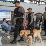 FOTO MUDIK 2017 : Stasiun Tawang Selalu Disisir Anjing