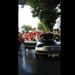 Diparkir di Tepi Jl Sukowati Sragen, Mobil Terbakar