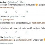TRENDING SOSMED : Rayakan Idulfitri, Tagar #LebaranGanteng Viral