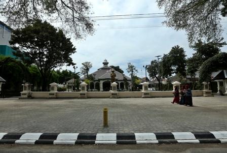 Kondisi citywalk, Loji Gandrung, Solo, setelah ditata. (Nicolous Irawan/JIBI/Solopos)