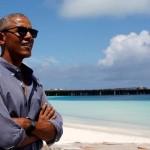 Begini Penampilan Obama saat Liburan di Bali