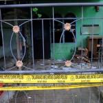 Kondisi rumah pelaku penyerangan Mapolda Sumut berinisial SP, di Jl Pelajar Timur, Medan, Sumatra Utara, Minggu (25/6/2017). (JIBI/Solopos/Antara/Irsan Mulyadi)