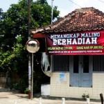 Spanduk tangkap maling berhadiah di Yogyakarta. (Istimewa/liputan6.com)