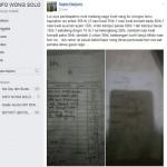 Unggahan warganet yang disebut sebagai harga di warung Nasi Liwet Wongso Lemu Solo (Facebook Info Wong Solo)