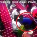 Tangkapan layar video jamaah meninggal saat salah tarawih. (Istimewa/Youtube)