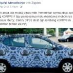 Wacana mobil dinas dicat logo Korpri. (Istimewa/Facebook)