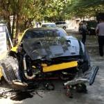 Rusak Parah, Begini Kronologi Supercar Nissan GT-R Tabrak Trotoar Jl. Slamet Riyadi