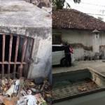 Bangunan menyerupai bungker (kiri) dan sebuah rumah (kanan) di Jl. Mataram, dekat Paramount Village, Kota Semarang, Jawa Tengah (Jateng). (Facebook.com-Mass Cayoyes)