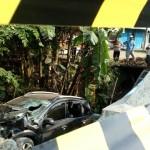 KECELAKAANWONOGIRI : Sopir Ngantuk, Mobil Rombongan Pelayat Nyungsep ke Sungai di Selogiri