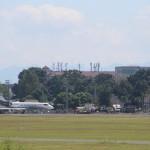 Pesawat Gulfstream G-V N50JE yang membawa Obama dan rombongan mendarat di Bandara Adisutjipto, Sleman, Rabu (27/6/2017). (JIBI/Harian Jogja/Galih Eko Kurniawan)