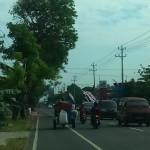 Kendaraan dari Luar Kota Memadati Jalanan Sukoharjo