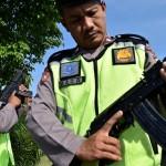 FOTO MUDIK 2017 : Senapan Mesin Polres Semarang Diperiksa