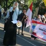 Tolak Organisasi Anti-Pancasila, PMII Pabelan Gelar Aksi di CFD Solo