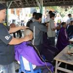 PENDIDIKAN SRAGEN : Hari Pertama Sekolah, Ratusan Siswa Baru SMKN 2 Dipangkas Rambutnya