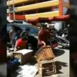 Aksi Kepala Dinas Perdagangan Kota Padang mengamuk di pasar. (Istimewa/Youtube)