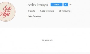 Akun Instagram Solo Den Ayu kosong (Instagram @solodenayu)