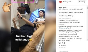 Aurel mengabarkan kehamilan Ashanty (Instagram @lambe_turah)