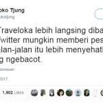 Cuitan tentang logo Twitter dan Traveloka (Twitter)