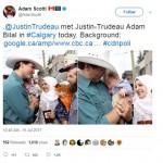 PM Kanada Peluk Bayi Pengungsi Suriah Bernama Justin Trudeau
