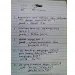 Jawaban kocak anak SD saat tes (Facebook Kementerian Humor Indonesia)