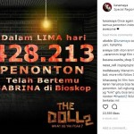 FILM TERBARU : Laris Manis, The Doll 2 Jadi Primadona