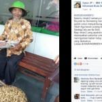 KISAH INSPIRATIF : Dagang Kacang, Pria Tua Mengasong dari Boyolali ke Semarang