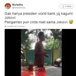 Pengamen nyanyikan lagu pujian untuk Jokowi (Twitter)