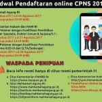 PENDAFTARAN CPNS 2017 : Entry Data Gagal? Begini Cara Daftar CPNS Online