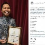 Bikin Bangga, Sandhy Sandoro Menangi Kontes Menyanyi di Rusia