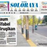 SOLOPOS HARI INI : Soloraya Hari Ini: Kaum Difabel Dirugikan Pedestrian Baru