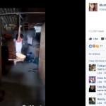 Bocah perempuan dihukum dengan cara digantung tangannya (Facebook)