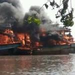KEBAKARAN PATI : Belasan Kapal Nelayan Juwana Dilumat Api, Kerugian Rp126 M