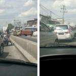 Pengendara sepeda motor melawan arus lalu lintas di jalur jalan utama Ambarawa, Kabupaten Semarang, Jateng, Kamis (6/7/2017). (Facebook.com-Zacky Al Azhar-Ashter)