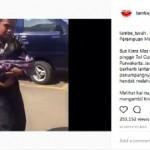 Potongan video detik-detik proses persalinan Sukiati di tepi jalan tol Cipali, Purwakarta, Jabar, Minggu (2/7/2017) sekitar pukul 10.40 WIB. (Instagram-@lambe_turah)