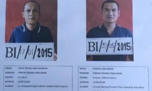 Selebaran berisi foto dan identitas dua narapidana LP Besi, Busakambangan yang kabur Minggu (9/7/2017). (JIBI/Solopos/Antara/Dok. LP Besi Nusakambangan)