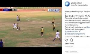 Potongan video pertandingan PSIS Semarang melawan Persipon Pontianak dan pernyataan Yoyok Sukawi di media sosial Instagram. (Instagram-@yoyok_sukawi)